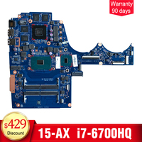 YTAI For HP 15 AX 15 BC Laptop Motherboard DAG35AMB8E0 I7 6700HQ 4GB 856676 601 Mainboard
