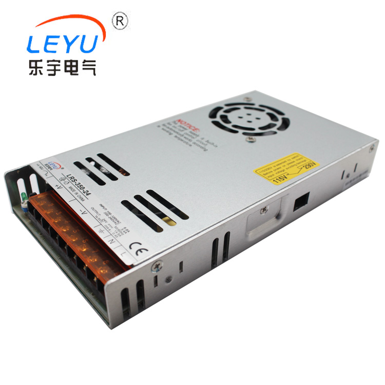 IP20 AC to DC power supply slim type LRS-350-24 , switching power supply 350W 24V