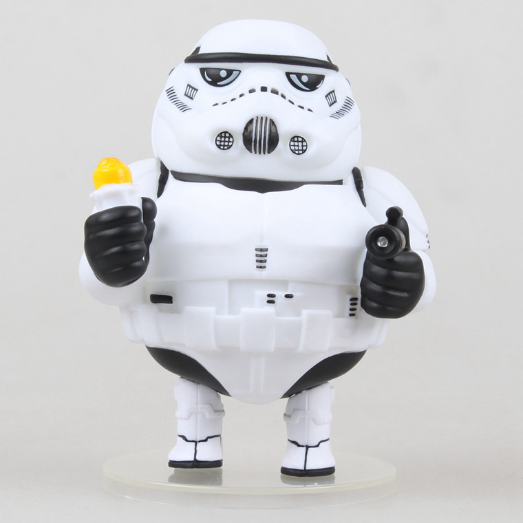 ФОТО SAINTGI 1pcs/set Genuine Star Wars FATTY THE STORM Stormtrooper Black Series BB8 Darth Maul Han Solo Darth Vader Model PVC 12CM