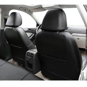 Image 4 - Carnong غطاء مقعد السيارة الجلود مخصص صالح لل مقعد السيارة الأصلي نفس الهيكل مغطاة بالكامل حامي غطاء مقعد السيارات