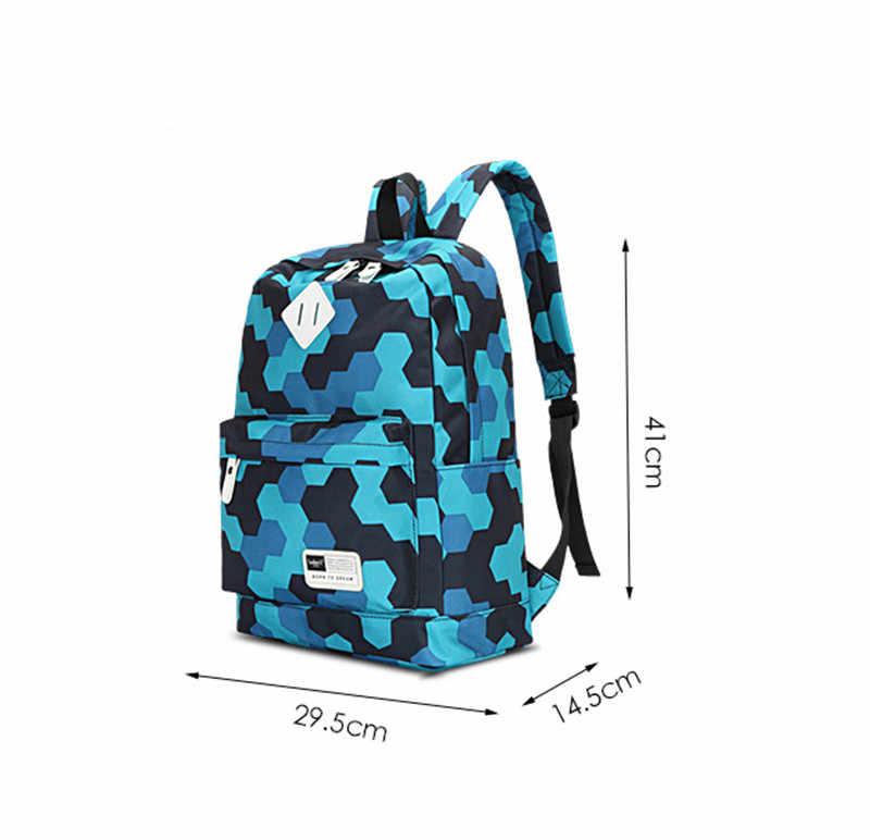 3 шт./компл. сумка Для женщин печати рюкзаки холст школьный рюкзак большой Учащиеся сумки для подростков девочек Повседневное путешествия ранцы 2017