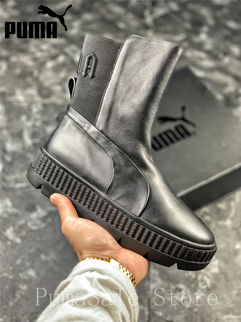3bf7a79bf711f7 Mouse over to zoom in. 2018 Rihanna X Puma Fenty Chelsea Sneaker Boot Women  Shoes 366266-01 ...