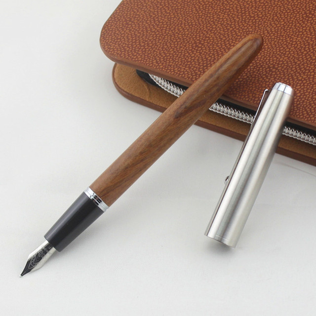 Remastered Classic Wood Fountain pen 0.38mm 0.5mm extra fine nib calligraphy pens Jinhao 51A Stationery Office school supplies