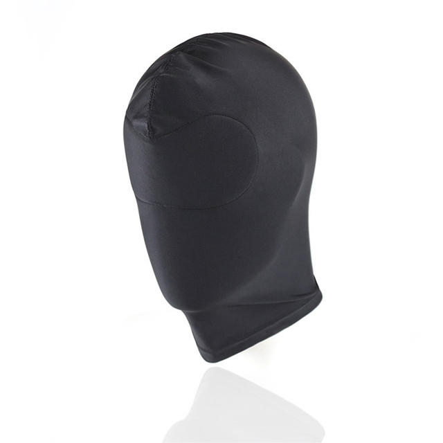 Sexy high elastic Latex Hood Black Mask 4 tyles Breathable Headpiece Fetish BDSM Adult for party 4