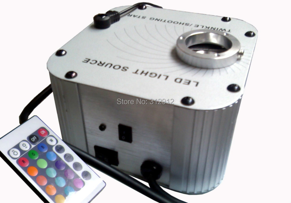 27w LED RGB fiber optic illuminator,with 24key IR remote and twinkle wheel;AC100-240V input;(with twinkle wheel)