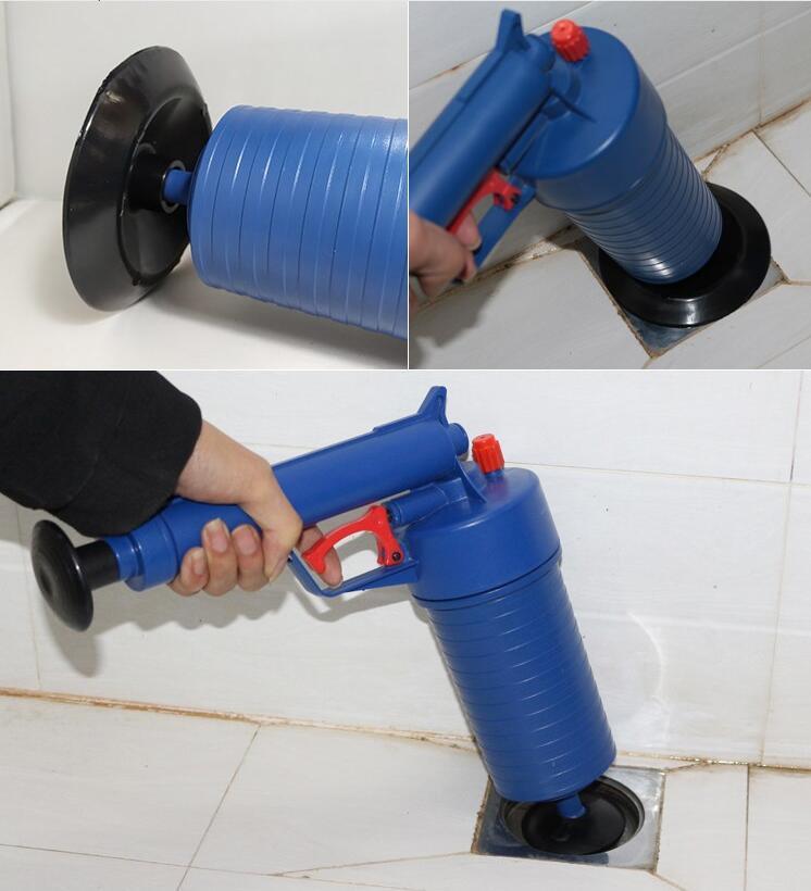 Air Power Drain Blaster Gun And High Pressure Sink Plunger And Cleaner Pump For Bathroom 8