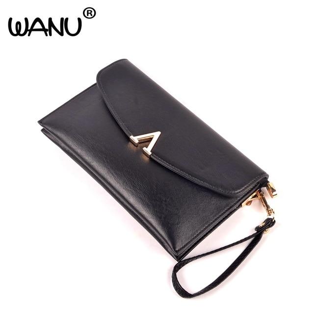 WANU 2017 натуральной кожи женщины вечерние сумки овчины женский день муфты хорошее качество повседневная сцепления конверт подарок для матери