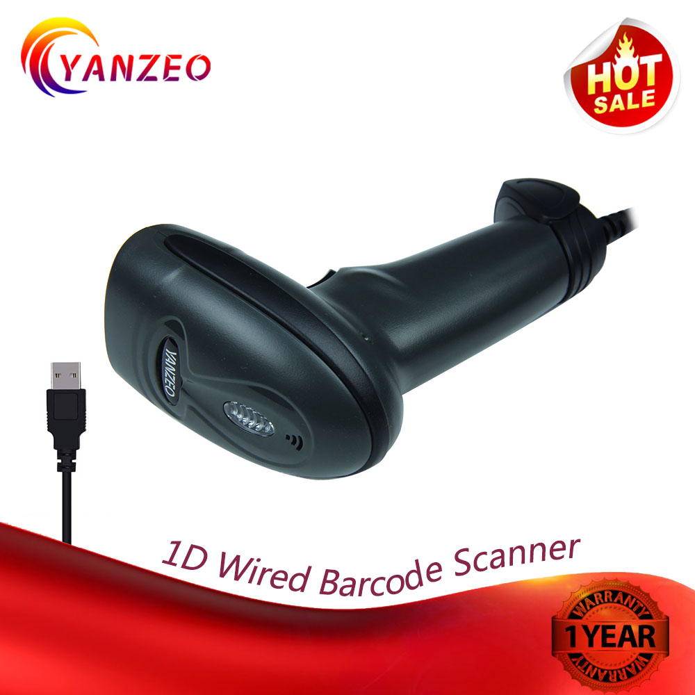 Yanzeo L1000 L3100 L6810 S100R High Sensitive Barcode Portable Handheld Wired Scanner USB 1D Bar Code Scan for POS System