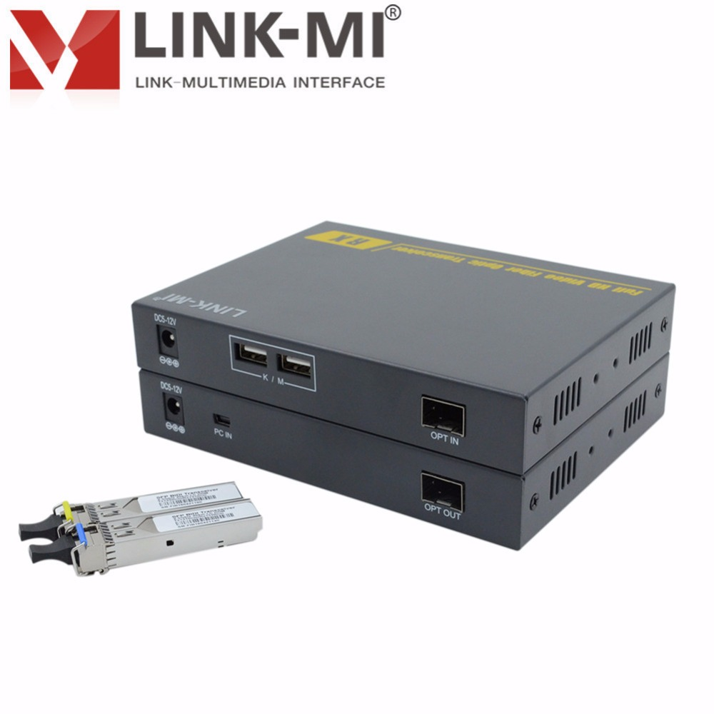 LINK-MI LM-THF109HKM Single Mode HDMI extender 1310nm LC Connector 10km HDMI+KVM With RS232/USB Extender Over Fiber Audio 3.5mm link mi lm ex11 1080p 50m single cat5e 6 hdmi extender utp cable high definition signal extension transmitter