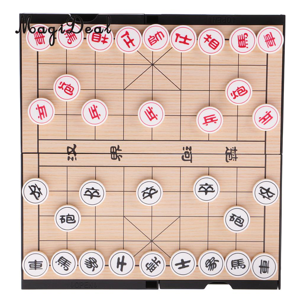 MagiDeal Excellent 2 In 1 HIPS Magnetic Double-Faced Board Chinese Chess Set Weiqi Toys Gift for Travelling Outdoor Fun Activity цена