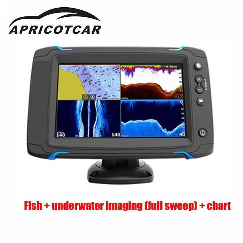 7-pollici Touch Screen di Navigazione GPS Lato Pieno Spazzata Spazza Na Tocco Dello Schermo di Tocco Lato di Scansione Mare Mappa Sonda dispositivo Rivelatore di Pesce