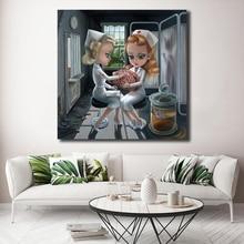 Mark Ryden Childish Strange Dark World Canvas Painting Print Bedroom Home Decor Modern Wall Art Oil Poster Framework HD