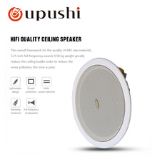 Oupushi surround sound speakers system 6.5 inch ceiling loudspeakers 100v roof speakers for home background music system