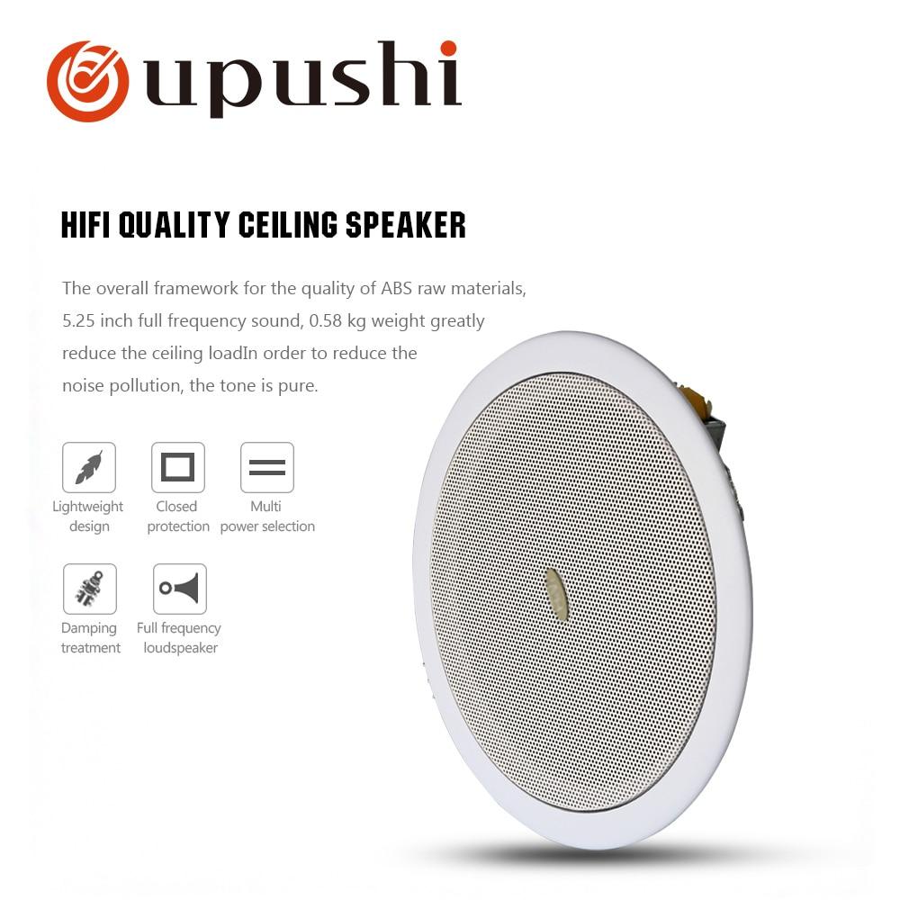 Sistema de Alto-falantes de Som Telhado para Casa Oupushi Surround Polegada Teto Alto-falantes 100v Sistema Música Fundo 6.5