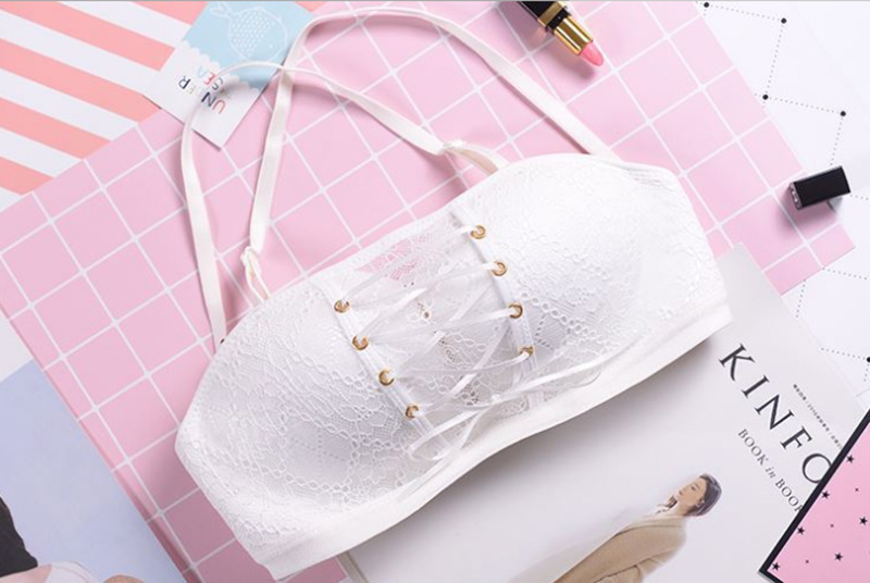 4ddbaf80036e2 Sexy Strapless Bras For Women Lace Push up Bra Invisible Wire Free ...