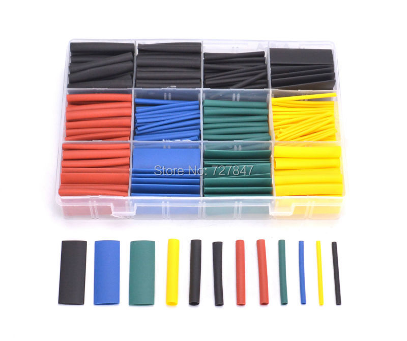530pcs/set Heat Shrink Tubing Insulation Shrinkable Tube Ass