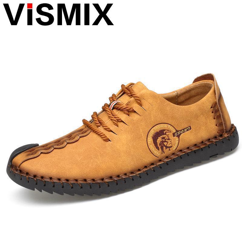 VISMIX 2017 Fashion Comfortable Men Shoes Lace-up Solid Genuine Leather Shoes Men Causal Huarache Hot Sale Zapatillas Hombre bexzxed new brand fashion comfortable men shoes lace up solid leather shoes men causal huarache shoes hot sale
