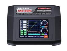 GTP TD610 PRO AC 100-240 В Вход красочные Сенсорный экран 100 Вт 10A баланс Зарядное устройство для 1-6 S липо литий-ионным жизни lihv 1-14 s NiCd NiMH