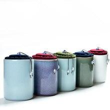 111    2017 China Storage Bottles High-grade ceramic tea canister Gift storage jar Tea caddy Sugar Bowl Salt shaker Straight