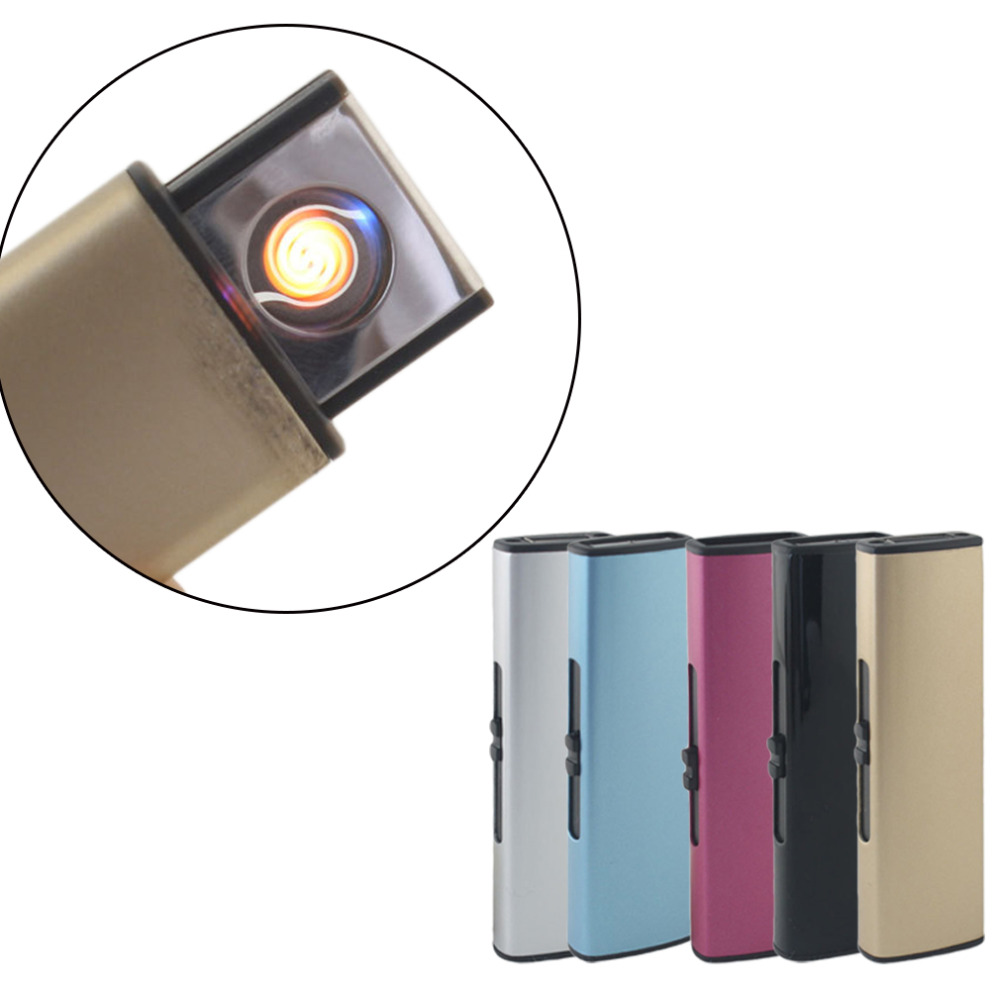 Creative USB Charge Dual Arc Lighter USB Windproof Personality Electric Cigarette Lighter Novelty Flameless Torch