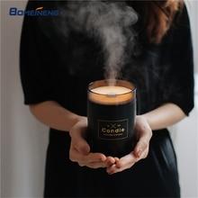 280 мл свечи увлажнитель воздуха ультразвуковой Эфирное Масло Диффузоры дома увлажнитель аромат масла воды диффузор с свет ночника