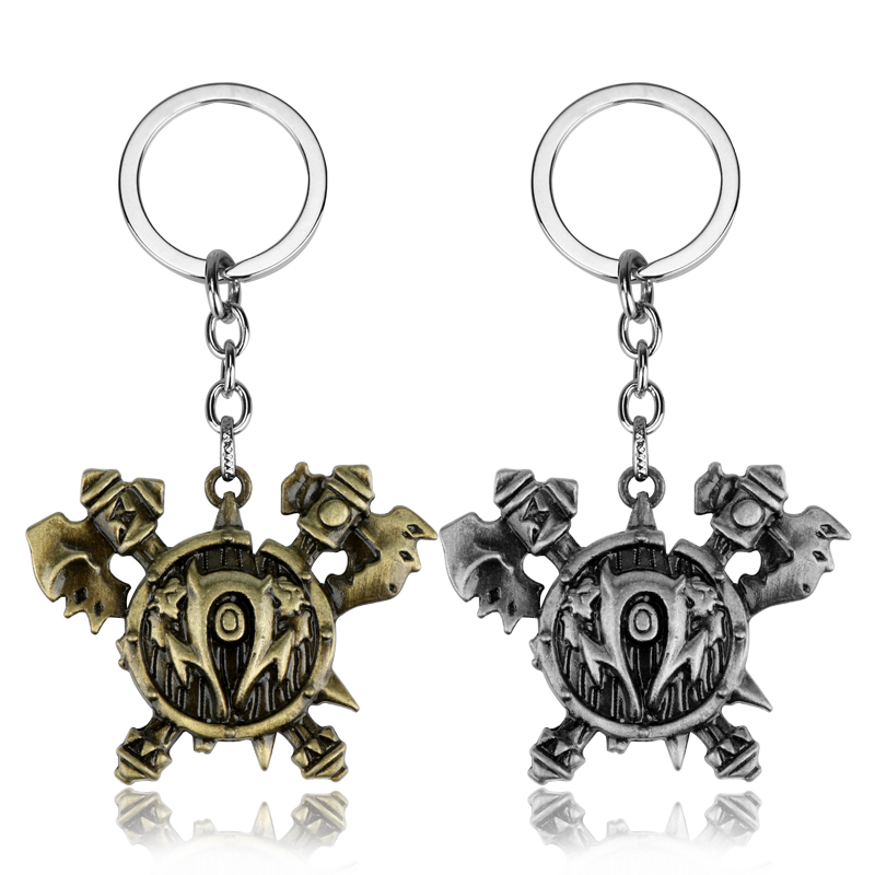 dongsheng Game Jewelry Lich King World of War craft Frost of Sorrows Logo Pendant Keychain Keyrings Cosplay Xmas Gift-50