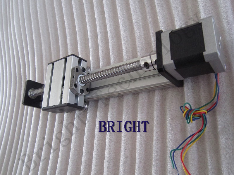 Linear Ballscrew SG1204 600mm Travel Length Linear Guide Rail CNC Stage Linear Motion Moulde+ 57 Nema 23 Stepper Motor SG 1220 800 one head belt driven linear actuator custom travel length linear motion motorized linear stage belt driven stage