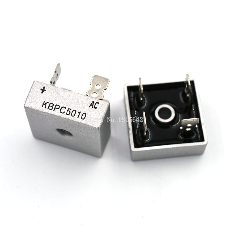 2Pcs KBPC5010W Rectifier Square Bridge Rectifier 50A//1000V yp