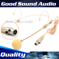 Skin Color 3 Pins XLR Connector Dual Earhook Headworn Headset Microphone Headband Mike For Samson Wireless BodyPack Transmitter