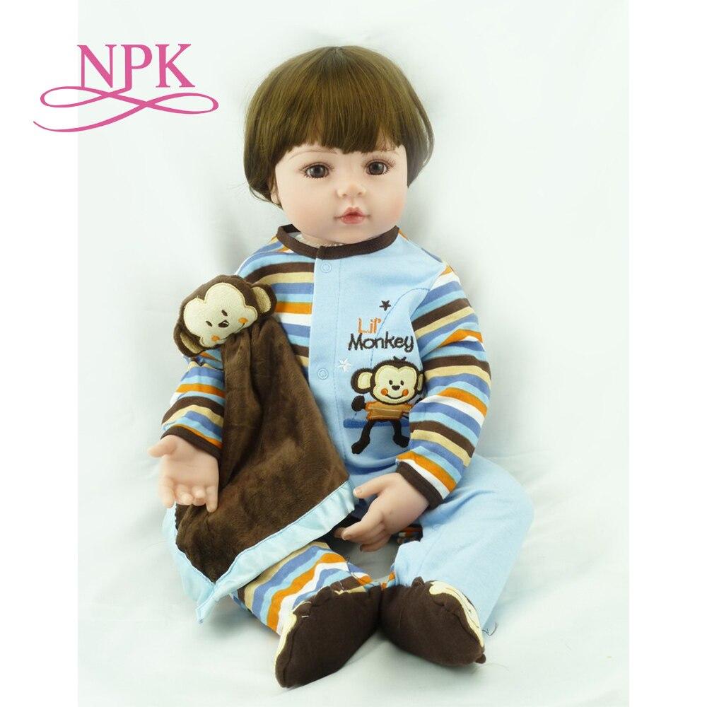 60CM big size reborn  toddler boy  adora Lifelike newborn Baby Bonecas Bebe kid toy girl silicone reborn baby dolls soft real-in Dolls from Toys & Hobbies    1