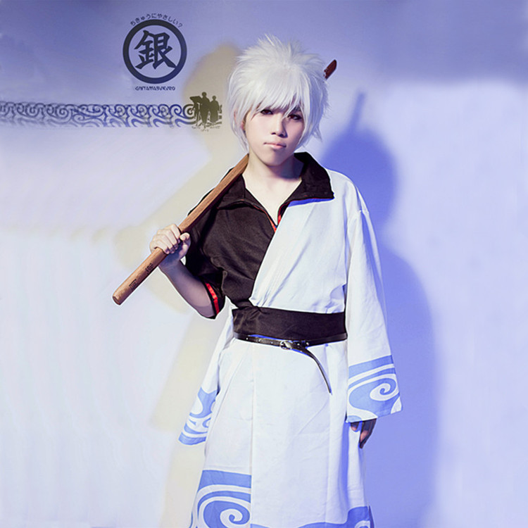 JP Anime Gintama Cosplay Costume Halloween Dress Adults Sakata Gintoki Cosplay Costumes for Sale