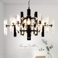 Original Design Crystal Pendant Lights Kitchen Dining Bar Modern LED Light Gold/balck Kristal Living Room Pendant Lamp Fixtures