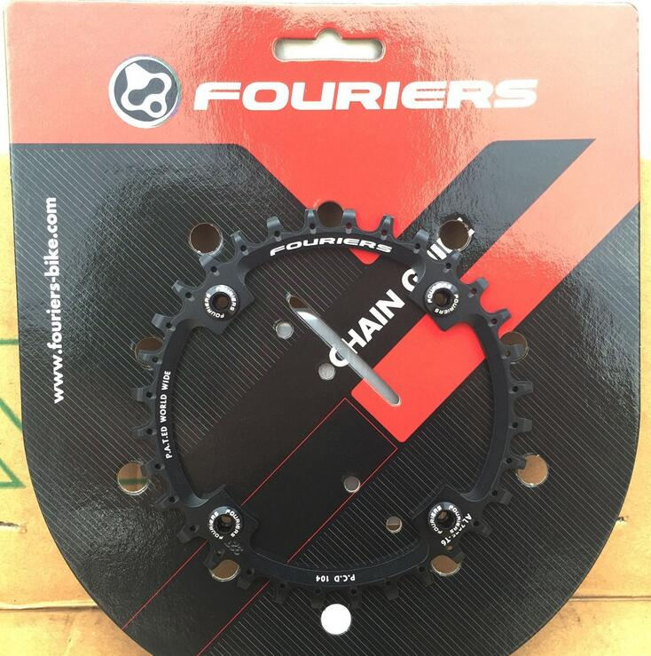 1pcs Black Fouriers Bicycle Single Chain Ring P.C.D 104mm 32T 4mm Bike Chainrings Narrow-wide Teeth 1pc fouriers cr dx006 130 road bike bicycle cnc single chain ring narrow wide teeth 38t 40t 42t 5mm p c d 130mm compatible