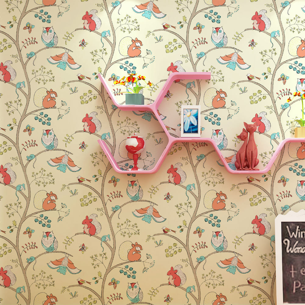 Aliexpress com   Buy Non woven wallpaper Cartoon children s room bedroom  wallpaper 3d perspective backdrop wall boys girls wall paper 53CM   10M  from. Aliexpress com   Buy Non woven wallpaper Cartoon children s room