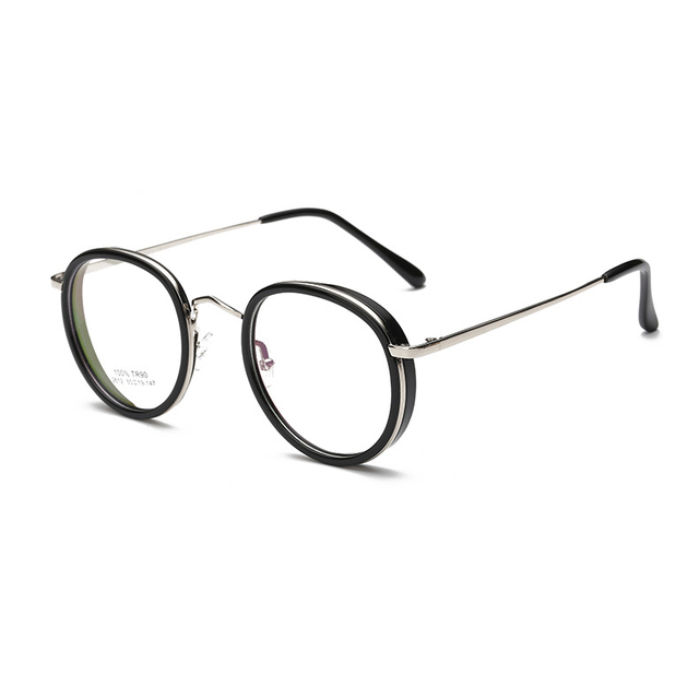 efefa07fc60 Vintage Optical Eyeglasses Frame myopia round metal eyewear glasses frame  men spectacles eye glasses women oculos
