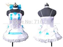 Kisstyle Fashion Anime Panty y Media con Gaterbelt Media Paño Cosplay Uniforme, Cualquier Tamaño (Sin Alas)