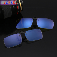Blue light blocking Glasses Anti blue Ray Clip On Eyeglasses Near-Sighted Myopia Night Vision Computer Gaming Clips Lens A3