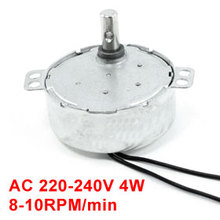 Uxcell Hot Sale 1Pcs CCW/CW Direction 50/60Hz Frequency 8-10RPM Synchronous Motor AC 220-240V 4W