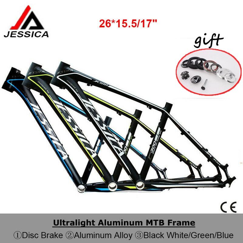 """US MTB Bike Frame set BB68 44-56mm Tapered Tube 135mm Aluminum Frame 26*15.5//17/"""""""