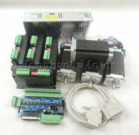 CNC Router 4 Axis kit, 4pcs TB6600 Stepper motor driver+ breakout board+ 4pcs Nema23 425 Oz in motor + 350W power supply#ST 4045