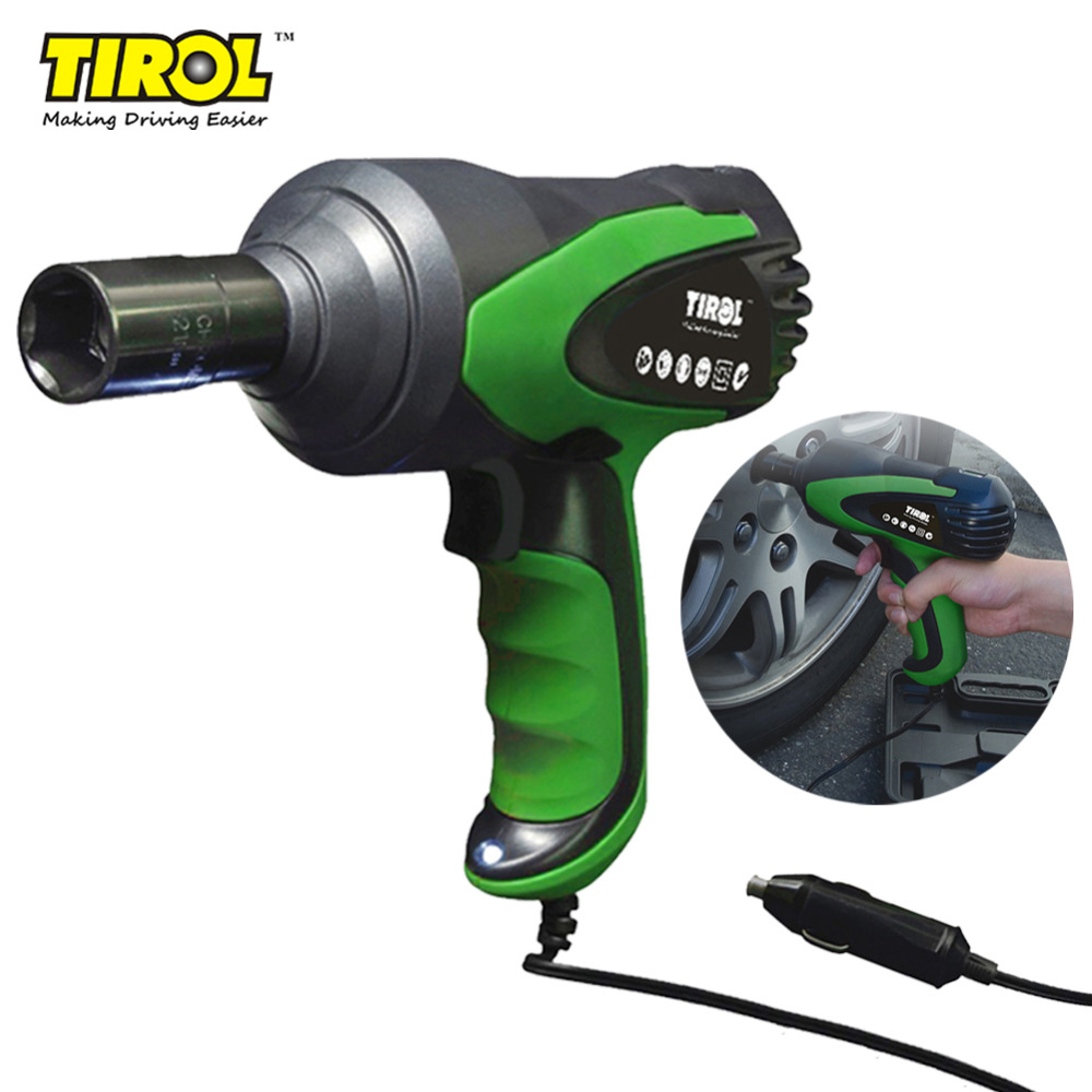 TIROL T20827 Electric Impact Wrench for Car High Quality 80W Air Pneumatic Impact Wrench Tire Repair Tools free shipping high quality 3 8 air pneumatic impact wrench gun tool