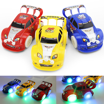 Kid's Original  Christmas Electric Car Music Racing Car Automatic Steering Flashing Car Toys New Year Gifts