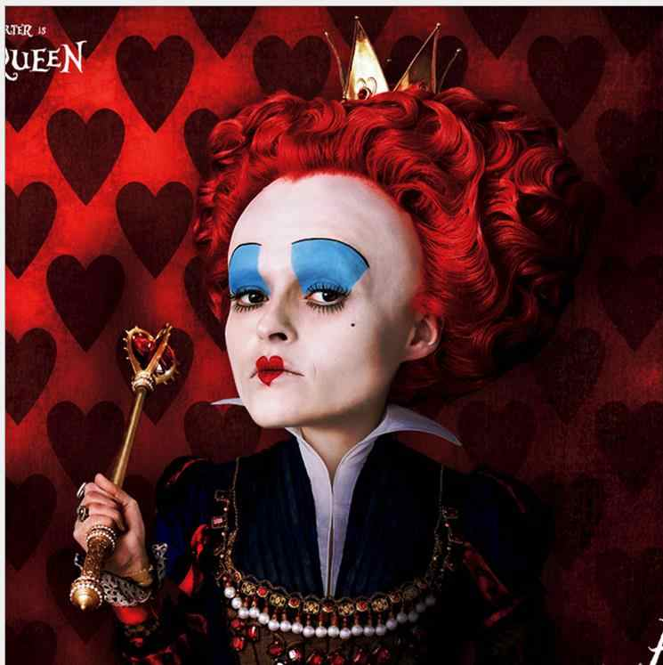Alice in Wonderland Queen of Hearts Wigs for Party Supplies Halloween Cosplay Wig