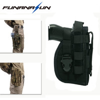 Military Concealment Ankle Holster With Molle Mag Pouch For Right Handed Shooters 1911 45 92