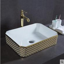 Wei yu the stage basin square ceramic lavatory sink basin bathroom the pool that wash a face to wash your hands lavatory ark combination of pvc bathroom cabinet small family bathroom condole ark wash basin of oak