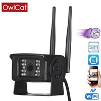 OwlCat 3G 4G Mobile phone SIM card 1080P HD Remote Monitoring Mini Network WiFi Motion Memory card slot Security camera