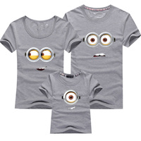 Fashion Family Matching Clothes Minions Clothes Children T Shirts Matching Mother Daughter Family Clothing Girl Boys