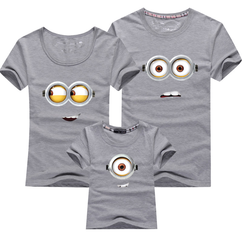 1pcs cotton family matching outfits minions t shirts. Black Bedroom Furniture Sets. Home Design Ideas