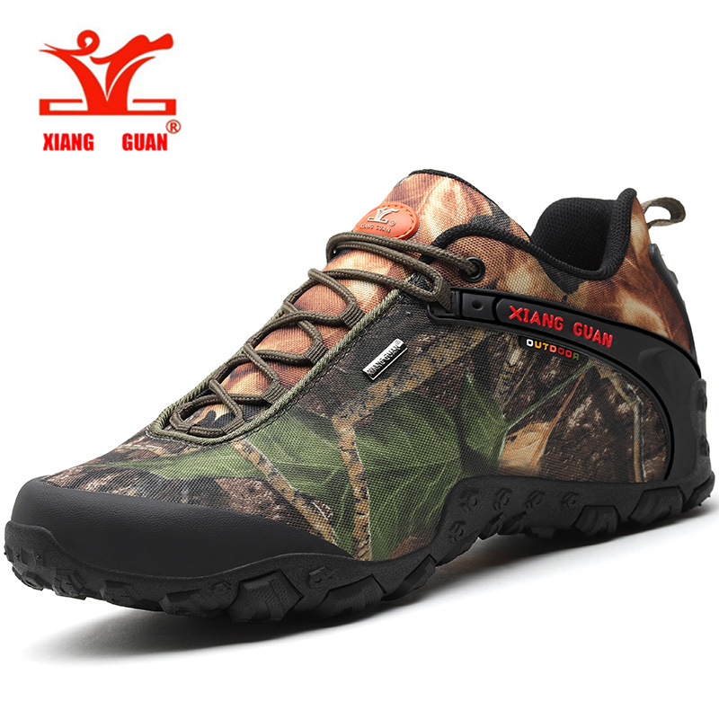 Xiang Guan men and women outdoor Hiking shoes waterproof canvas sport trekking boots Anti skid Wear