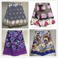 H & Q di Alta Qualità Africano cera Tessuto di Pizzo 6 Yards/pcs Stampe Tessuto Con Ricamo Nigeriano Guipure Cera del merletto Per Il Vestito Delle Donne